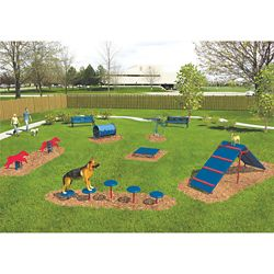 Six Piece Intermediate Dog Park Set