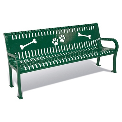 Pleasant Plastic Coated Outdoor Dog Park Bench 6W By Ultra Play Bralicious Painted Fabric Chair Ideas Braliciousco