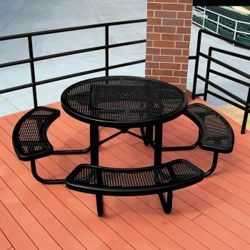 Portable Round Perforated Picnic Table
