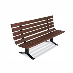 Recycled Plastic Outdoor Bench - 6 ft