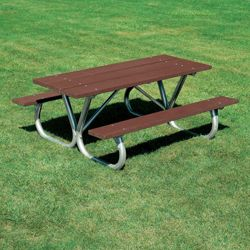 Heavy Duty Recycled Plastic Lumber Picnic Table - 8 ft