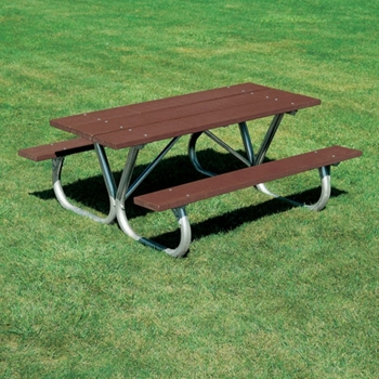 Heavy Duty Recycled Plastic Lumber Picnic Table Ft And - Picnic table recycled plastic lumber