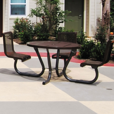 """Square ADA Accessible Perforated Outdoor Table - 46"""""""