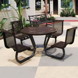 Round Perforated Outdoor Table - 46""