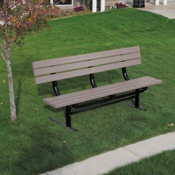 InGround Mount Recycled Plastic Lumber Ft Bench And More - Picnic table recycled plastic lumber