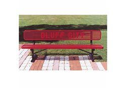8 ft Custom Logo Outdoor Bench
