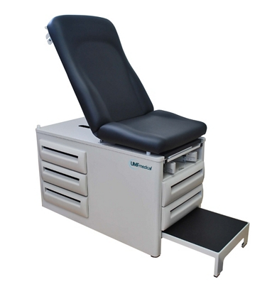 Manual Exam Table with Five Drawers