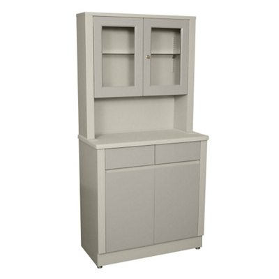 """Double Treatment Cabinet with Lockable Glass Case - 65""""H"""