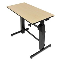 """Adjustable Height Computer Desk with Hand Brake - 47.6""""W x 26""""D"""