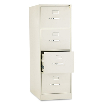 """Heavy-Duty Four Drawer Legal Size Vertical File - 26-1/2""""D"""