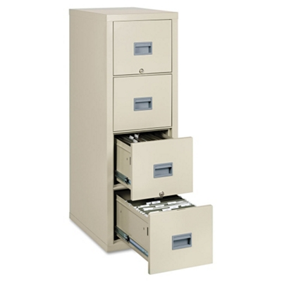 Four Drawer Fireproof Vertical File - Letter/Legal Size