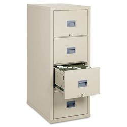 Four Drawer Fireproof Vertical File - Letter Size