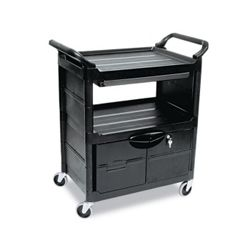 Utility Cart with Locking Storage Area