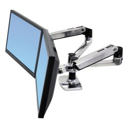 Adjustable Height Side-By-Side Dual Monitor Arm