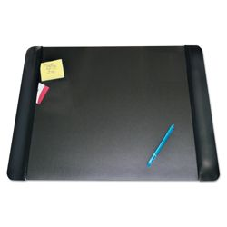 "Faux Leather Antimicrobial Desk Pad with Side Panels - 24""W x 19""D"