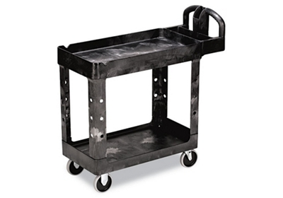 Heavy Duty 2 Shelf Mobile Utility Cart