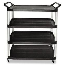 """41""""W Four Shelf Utility Cart"""