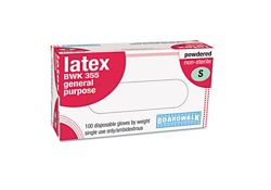 Disposable Powdered Latex Gloves - Box of 100