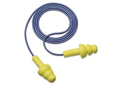 Corded Triple-Flange Earplugs - Box of 100