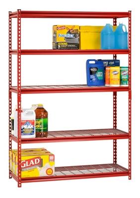 "Boltless Five Shelf Steel Shelving 48"" W x 18"" D x 72"" H"