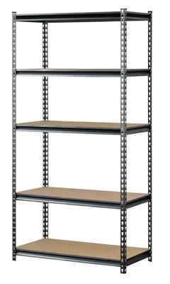 "Boltless Five Shelf Steel Shelving 30"" W x 12"" D x 60"" H"