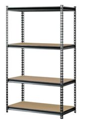 "Boltless Four Shelf Steel Shelving 36""W x 18""D x 60""H"
