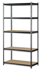 Boltless Five Shelf Steel Shelving 36x72