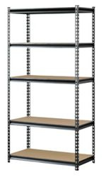"Boltless Five Shelf Steel Shelving 48"" W x 18"" D x 72"" H"