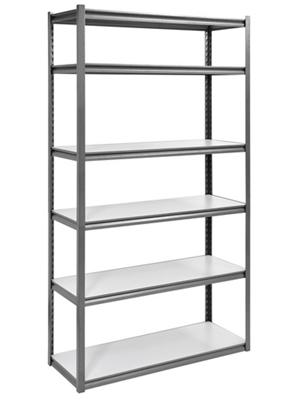 "Boltless Six Shelf Steel Shelving 48"" W x 18"" D x 84"" H"