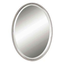 "32""H x 22""W Oval Metal Frame Mirror"