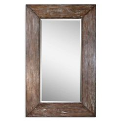 "80.5""H x 50.5""W Oversized Distressed Frame Mirror"