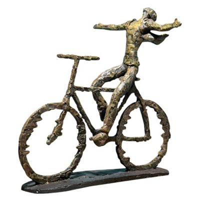 Decorative Metal Bike Sculpture