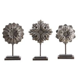 Floral Sculptures - Set of Three