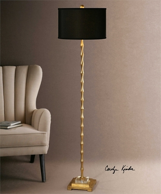 """Bamboo Accented Floor Lamp -64.5""""H"""