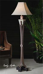Hand-Carved Floor Lamp