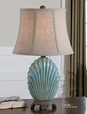 Crackled Shell Table Lamp