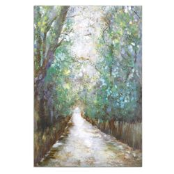 """40""""W x 60""""H Greenway Frameless Canvas Painting"""