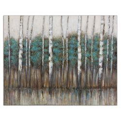 """51""""W x 40""""H Edge of the Forest Canvas Painting"""
