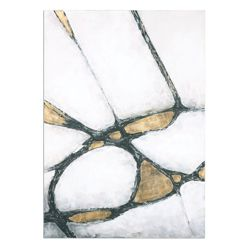 """42""""W x 60""""H Abstract in Gold and Black Wall Art"""