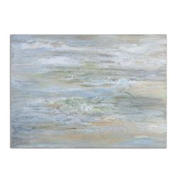"48""W x 36""H Misty Morning Frameless Art"