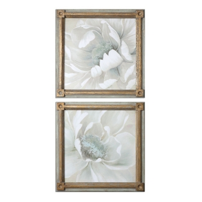 "29""W x 29""H (Each) Set of Two Winter Blooms Framed Wall Art"