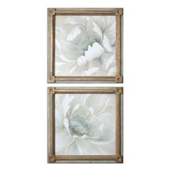 """29""""W x 29""""H (Each) Set of Two Winter Blooms Framed Wall Art"""