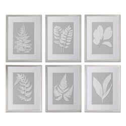 """20""""W x 26""""H (Each) Moonlight Ferns Framed Art"""