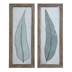 "16""W x 40""H (Each)  Set of Two Tall Leaves Framed Wall Art"