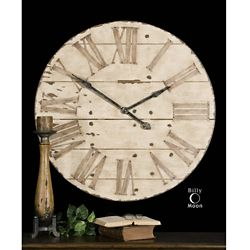 "Oversized Wooden 36""Dia Wall Mountable Clock"
