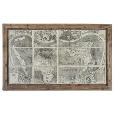 Treasure Map - Framed Wall Art