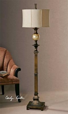 "Traditional Bronzed Floor Lamp - 69""H"