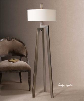 "Forged Metal Floor Lamp - 60""H"