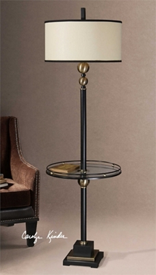 """Elegant Floor Lamp with Table - 65.5""""H"""