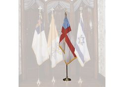 Episcopal Flag Set with 4' x 6' Flag and Stand